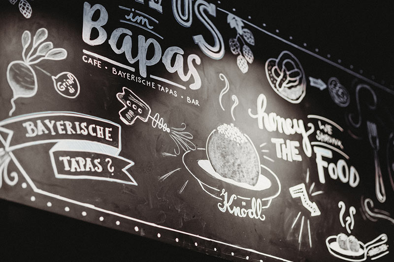 Bapas, Cafe, Bar, Bayerische Tapas, Frühstück, Kuchen, Snacks, München Leopoldstraße