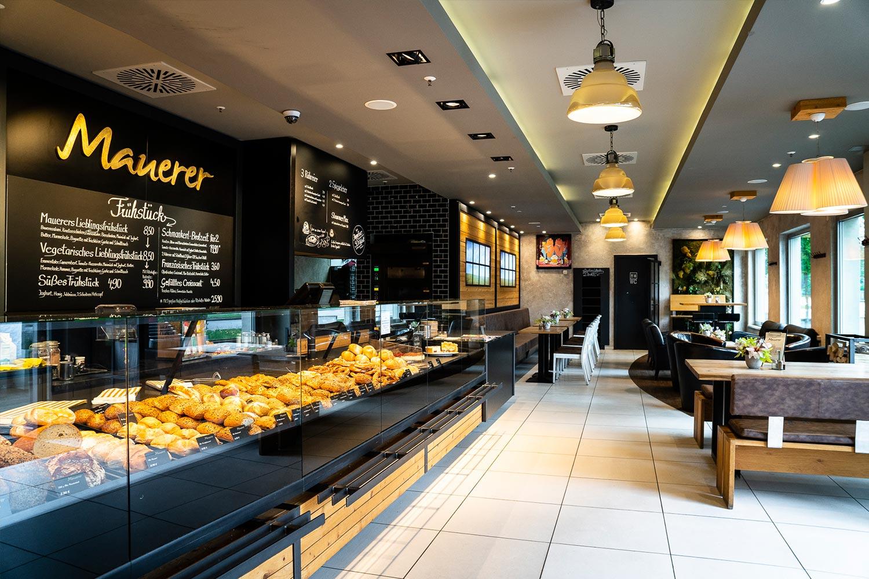 Frische Auswahl an Gebäck, Cafe Mauerer, Schillerstraße und Karlsfeld